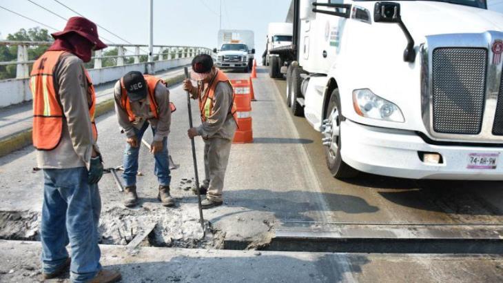 Cerrarán cuatro puentes de Villahermosa por mantenimiento, informa SEMOVI