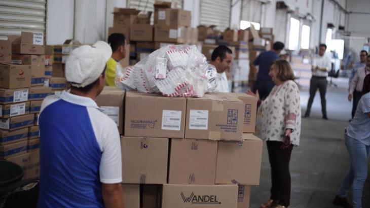 Continúa arribo de medicamentos al sector Salud de Tabasco