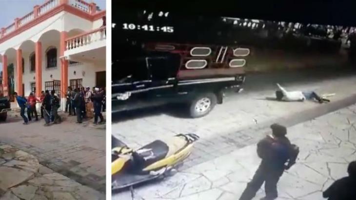 Amarran y arrastran al alcalde de Las Margaritas, Chiapas ¡por incumplir a pobladores!