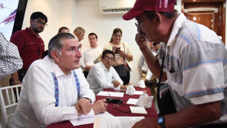 Inicia Adán Augusto audiencias públicas… en Macuspana