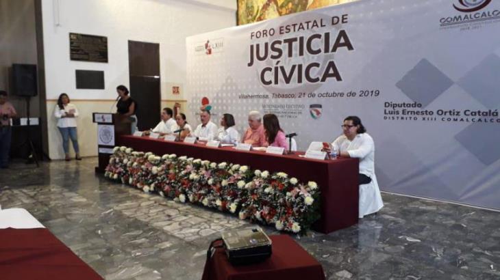 Realizan en Congreso foro estatal de justicia cívica