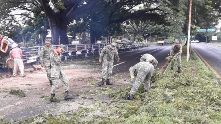 Activa SEDENA PLAN DN-III-E en Colima ante la llegada de la tormenta tropical 'Priscilla'