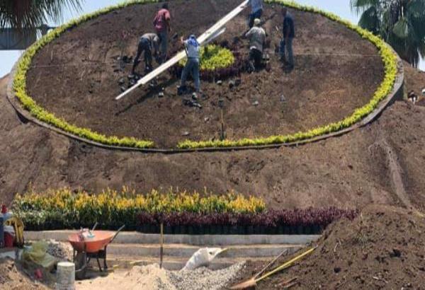 Colocan las primeras plantas en el Reloj Floral