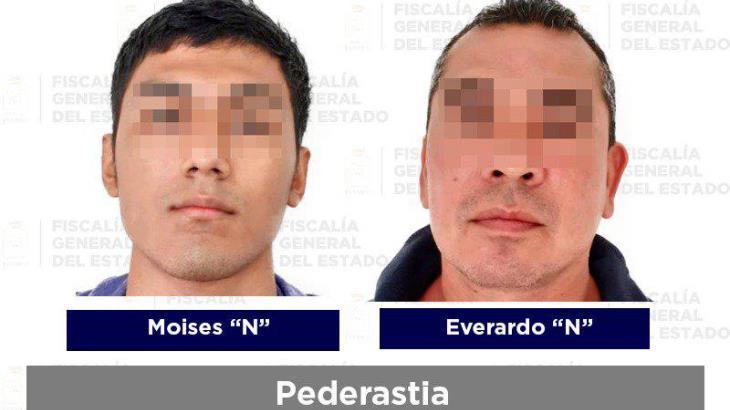 Cuatro sujetos acusados de abuso sexual, pederastia y otros delitos fueron detenidos por la FGE