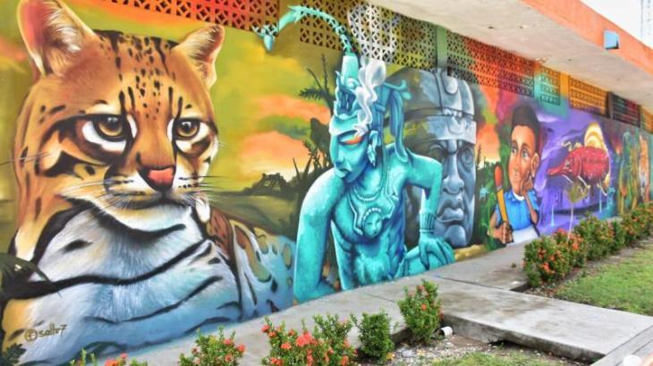 Imagen del Día: Artistas de tres estados regalan mural urbano a Villahermosa