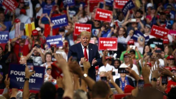 En arranque de campaña, Trump dijo que el muro es bello