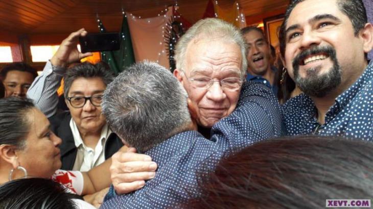 Celebra Andrés Granier rosario de agradecimiento a la Virgen de Guadalupe; cientos lo arropan