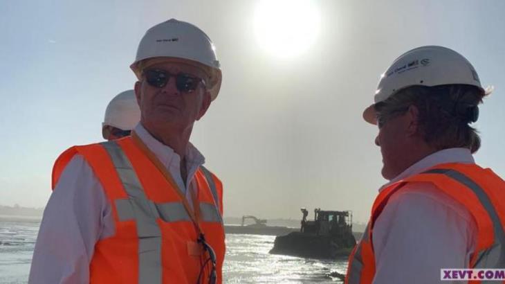 Presidente de Consejo de Administración de Van Oord supervisa trabajos en terreno de la Refinería de Dos Bocas