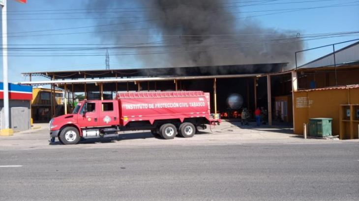 Arde pipa cuando recibía mantenimiento en Anacleto Canabal