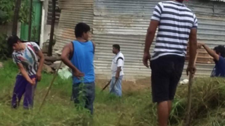 Acusan habitantes de la 'Pancho Villa' que gente están invadiendo área verde del ayuntamiento