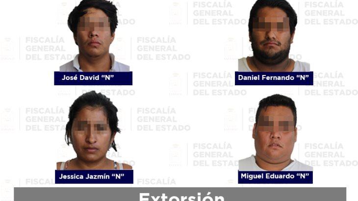 Vinculan a proceso a 4 presuntos extorsionadores detenidos en Villahermosa