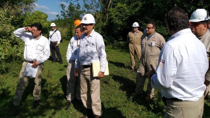 Supervisa Octavio Romero trabajos de exploración en el campo Quesqui