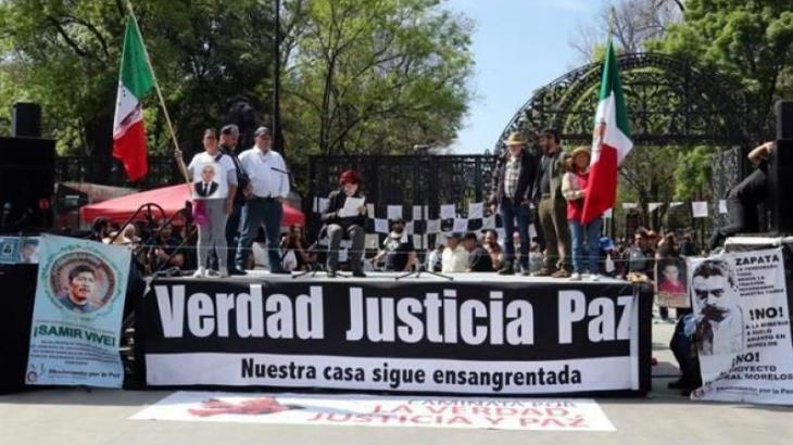 Realiza 'Caminata por la Paz' acto cultural en Chapultepec