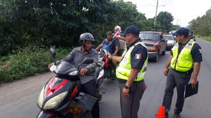Retiene PEC cuatro vehículos en alcoholímetro en los límites de Huimanguillo, Cárdenas y Cunduacán