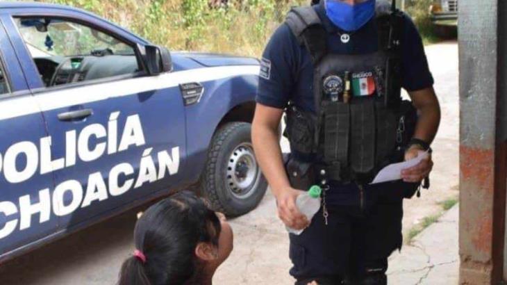 Patrullas de Michoacán usan altavoces para pedirle a la población que se quede en casa