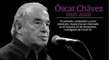 Muere Óscar Chávez; había sido internado por síntomas de coronavirus