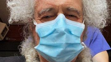 Hospitalizan a Brian May guitarrista de Queen tras accidente
