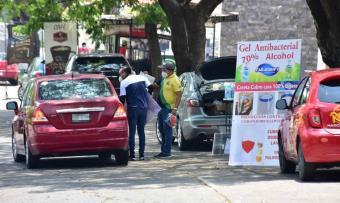 Productos sanitizantes, lo más buscado en Circuito Deportiva de Villahermosa