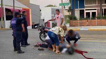 Grave motociclista atropellado ayer en Paseo Tabasco; el responsable huyó del lugar