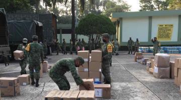 Arriban equipos e insumos médicos para hospitales Covid-19 atendidos por el Ejército en Tabasco