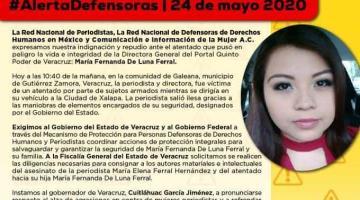 Atacan a balazos a directora del portal de noticias Quinto Poder de Veracruz