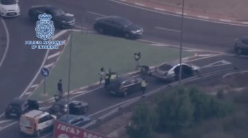 Policía Nacional de España detiene en traficantes de droga en espectacular operativo