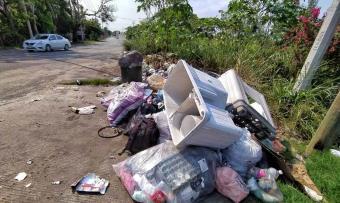 Crecen tiraderos de basura en Centro durante contingencia sanitaria