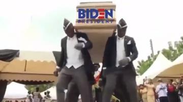 Trump se burla de Biden compartiendo video de Ghaneses que bailan con ataúdes