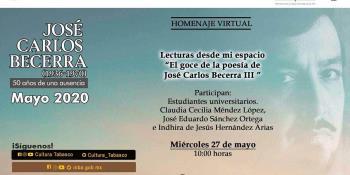 Realiza Cultura homenaje al poeta tabasqueño, José Carlos Becerra