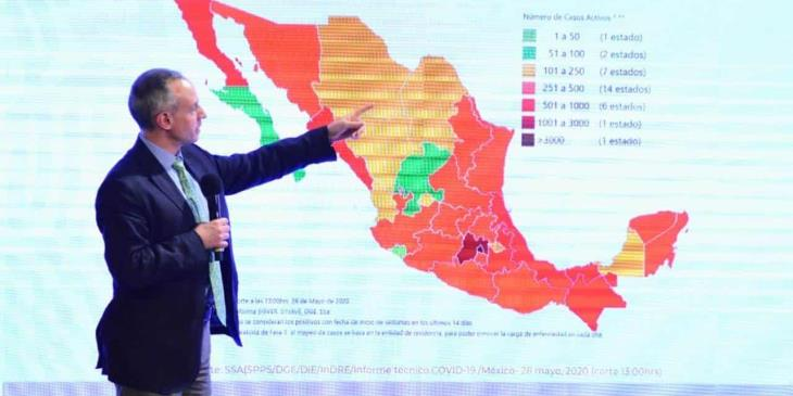 Villahermosa va en declive en casos de coronavirus: Hugo López-Gatell