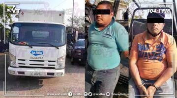 Hombres roban camión... pero los detienen en la carretera Villahermosa-Cárdenas