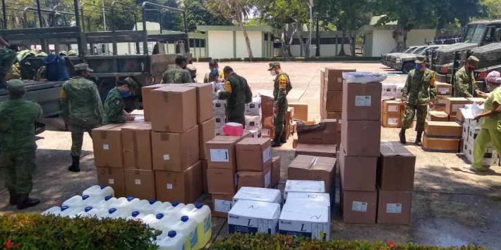 Arriban a Tabasco 8 toneladas de insumos médicos para hospitales COVID