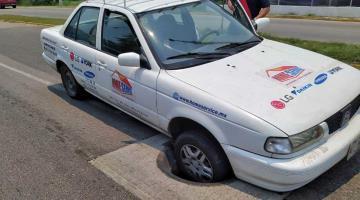 FOTO GALERÍA: Alcantarillas sin tapa; peligrosas trampas para coches y transeúntes de Villahermosa