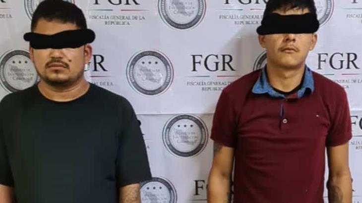 """Inician investigación de dos presuntos integrantes de la banda de """"El Kalimba"""" detenidos en Huimanguillo"""