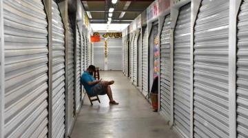Aún sin abrir muchos comercios de Villahermosa durante la nueva normalidad.
