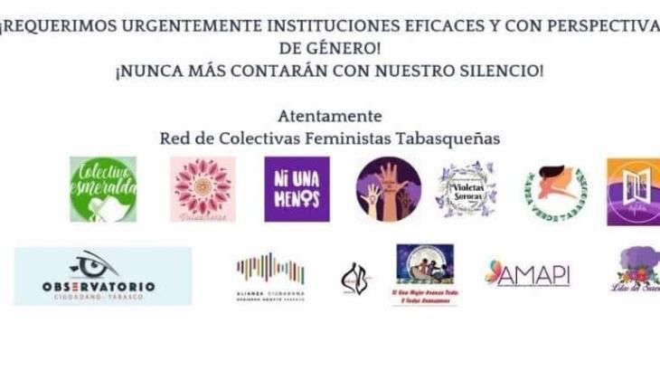 Exige red de colectivas feministas de Tabasco justicia pronta y expedita tras agresión y muerte de hermanas de Nacajuca