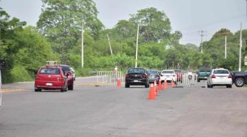 Filtros sanitarios de Villahermosa siguen instalados pero sin supervisar a vehículos.