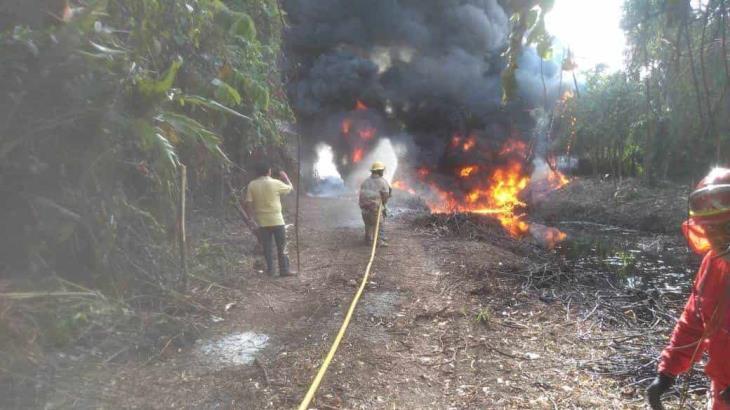 Columna de humo fue por quema de residuos de una toma clandestina controlada: ayuntamiento de Cárdenas