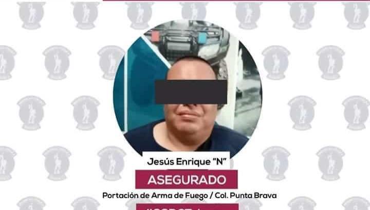 Detienen a sujeto por portación ilegal de arma de fuego en Villahermosa