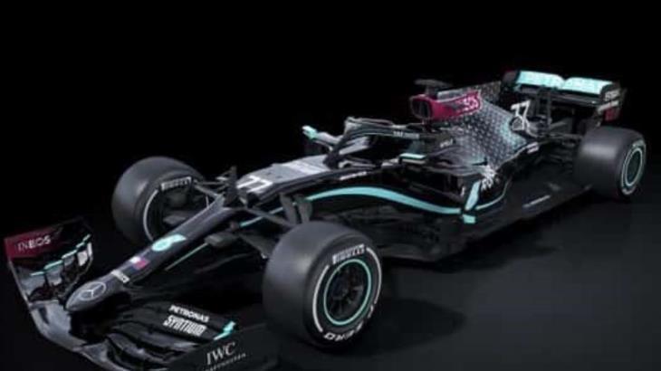 Mercedes presenta sus coches negros para la temporada 2020, en apoyo la lucha contra el racismo y la discriminación