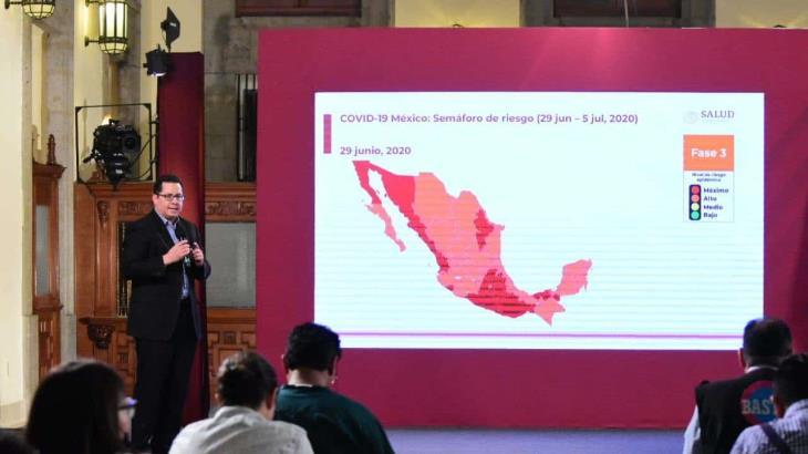 México llega los 220 mil 657 casos de Covid-19; Tabasco se ubica en el tercer lugar de los estados con más contagios