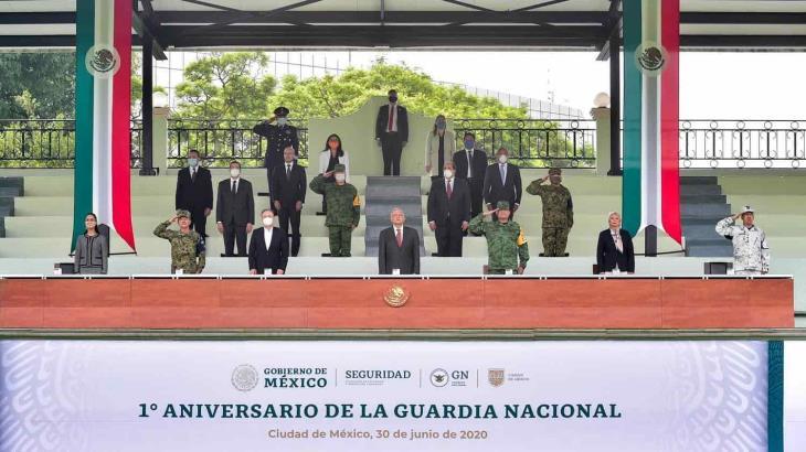 A un año de inicio de operaciones de la Guardia Nacional, es mucho lo avanzado, destaca López Obrador