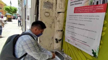 Instalan lavamanos en la Zona Luz para promover la higiene de los visitantes