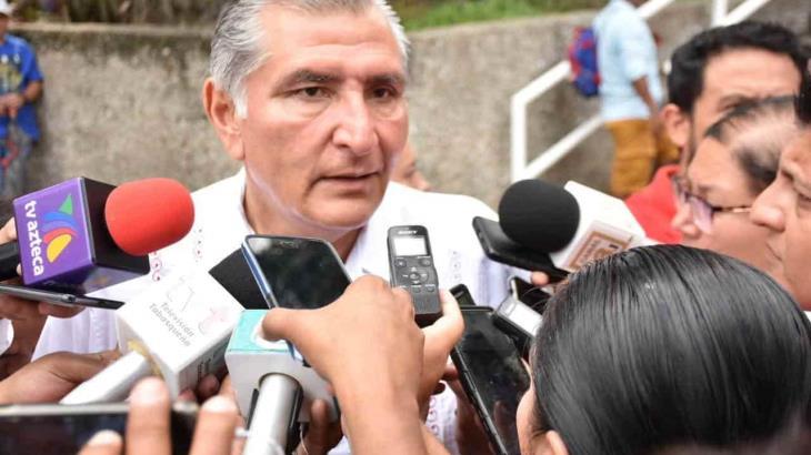 """Ataja Adán Augusto acusación de intromisión del Gobierno en proceso interno de Morena; """"Jesusita tiene mis respetos"""", dice"""