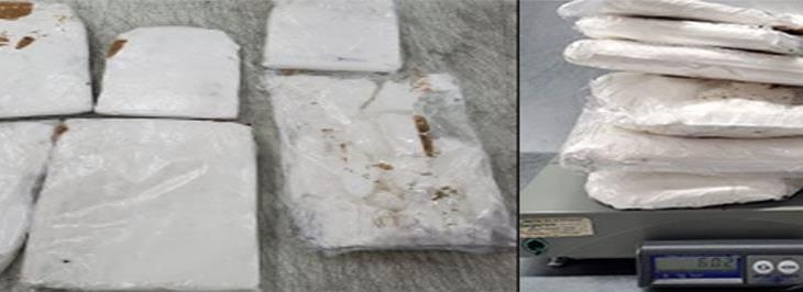 Asegura SEDENA 6 kilos de cocaína en el aeropuerto intercontinental de Querétaro