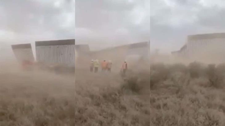 Aseguran autoridades de EEUU que tramo del muro fronterizo no fue derribado por la tormenta tropical ´Hanna´