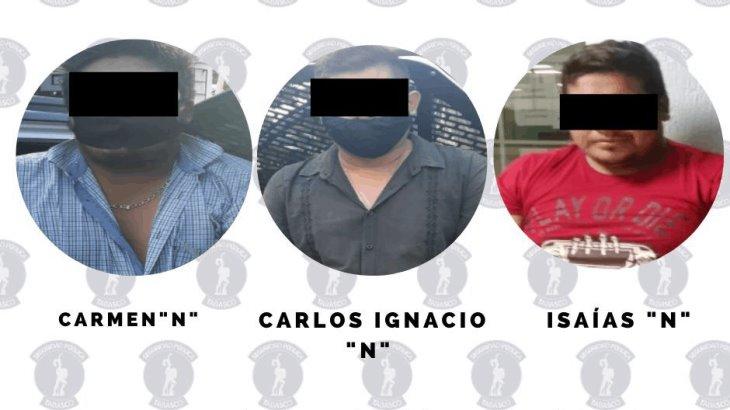 Detienen a tres sujetos acusados de robo con violencia en Tabasco 2000