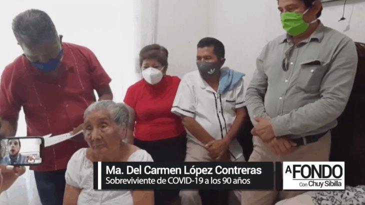 Abuelita de 90 años de edad de Jalpa, sobreviviente de Covid, cuenta su historia en A Fondo