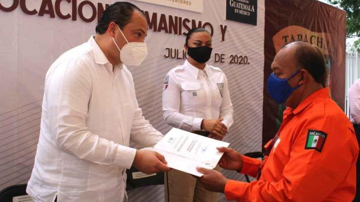 Reconoce embajador de Guatemala en México, labor del Grupo BETA en Chiapas