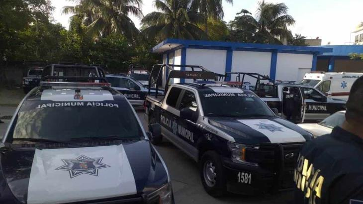 Amenazan con paro policías de Cunduacán por falta de gasolina